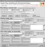 Audio Play And Record OCX screenshot